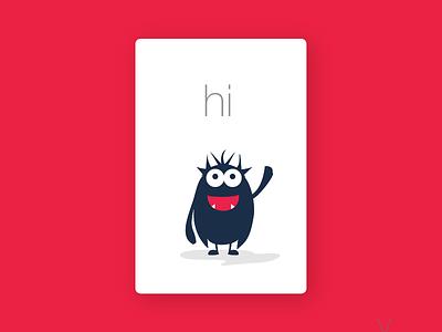 Say hi - Itzzi Cards happy itzzi cards illustration vector branding brand