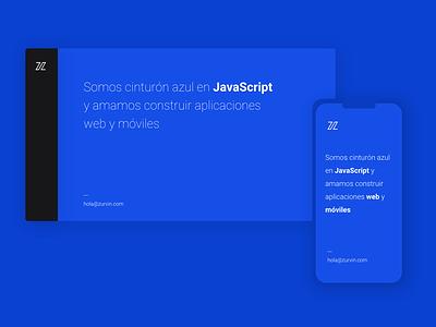 Z space design peru mobile branding webdesign ui zurvin blue brand web