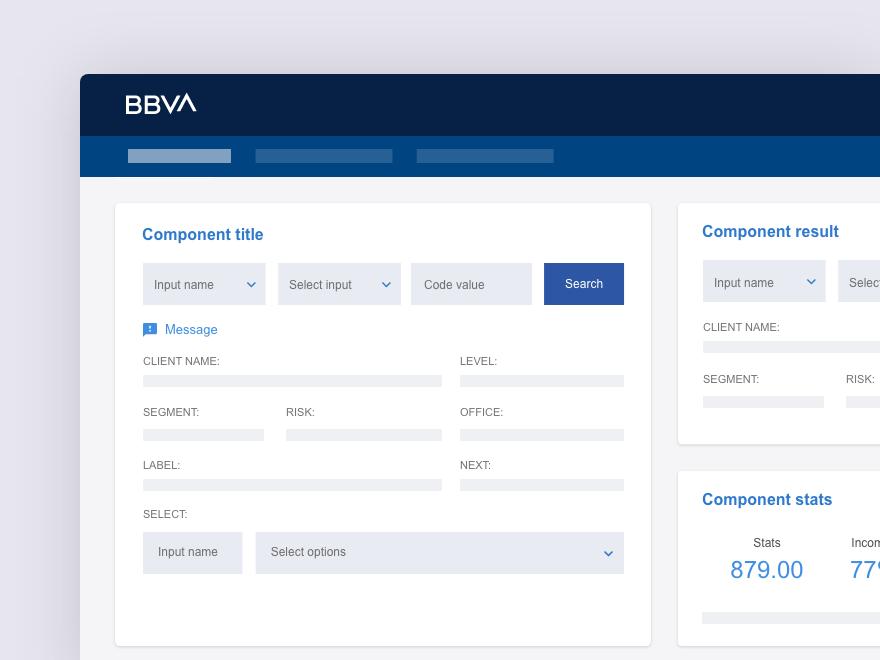 BBVA UI Dashboard Concept web design ui dashboard blue bbva