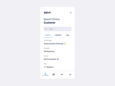BBVA UI Customer Search Concept minimalism white mobile web peru ui design bbva