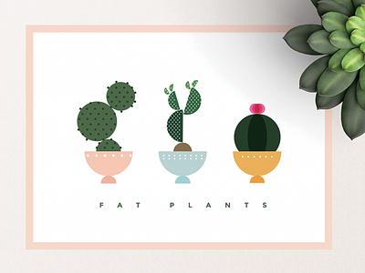 Fat Plants plant design flat graphic