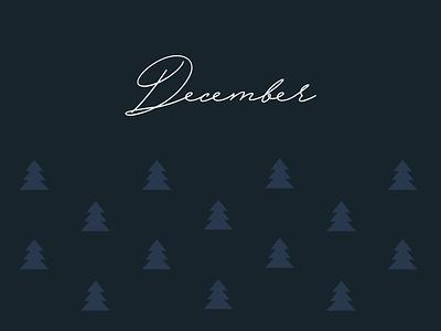 December icon graphic winter december