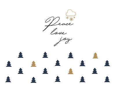 Happy new year graphic icon winter joy love peace