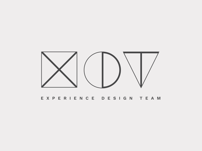 Experience Design Team Logo brand creative team design logo