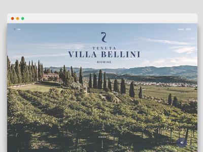 Tenuta Villa Bellini Website shooting webdesign wine branding artdirector