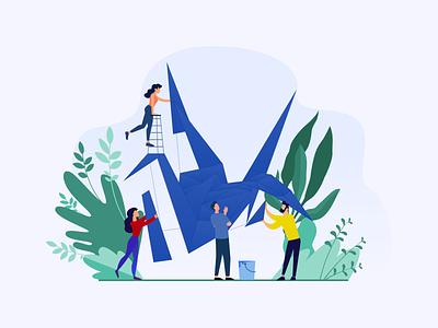 Another friendly illustration for Origami LTD graphic design header design website business website bird illustration origami characters clean design vector branding illustration adobe xd web design adobe illustrator ux design ui design figma