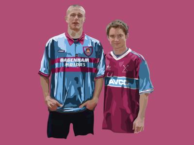 Digital Illustration vector film actors west ham fc premier league football illustration adobe illustrator
