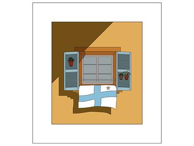 Digital Illustration colour summer vector adobe illustrator illustration flat design football ligue1 riviera france marseille