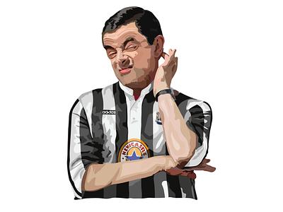 Digital Illustration premier league adobe illustrator football newcastle vector comedy mrbean illustration