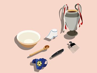Digital Illustration 3d champions league bayern munich adobe illustrator football vector illustration