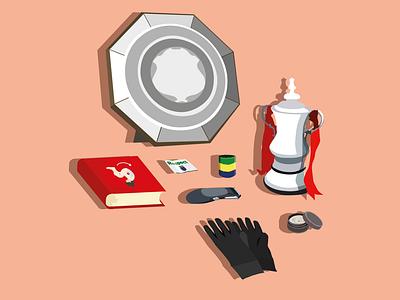 Digital Illustration 3d minimal emirates arsenal fc design art premier league vector adobe illustrator football illustration