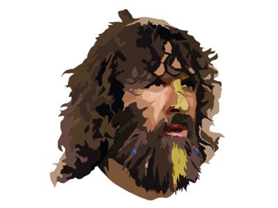 Digital Illustration adobe illustrator carlos puyol barcelona pain portrait vector football