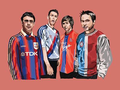 Digital Illustration the inbetweeners friends england actor premier league vector adobe illustrator football illustration