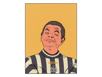 Digital Illustration mr bean roman atkinson adobe illustrator premier league newcastle conedy vector football illustration