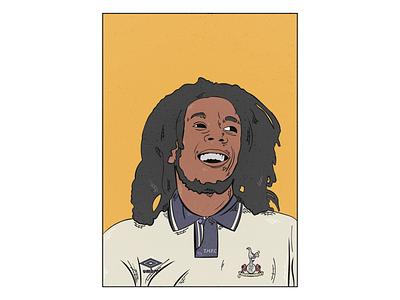 Digital Illustration graphic design vector art illustration premier league tottenham bob marley adobe illustrator football