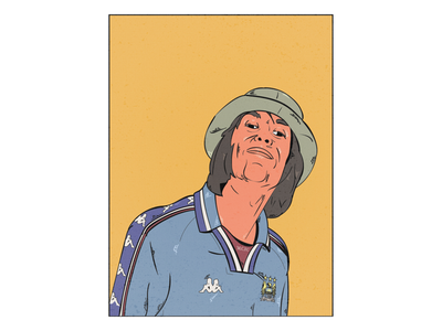 Digital Illustration graphic design football liam gallagher oasis adobe illustrator vector illustration