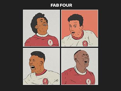 Digital Illustration graphic design adobe illustrator liverpool fc vector music the beatles football