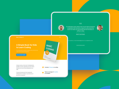 Landing Page for a Book ui landing