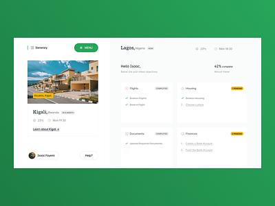 Dashboard: Japa.com to do travel dashboard minimalist ui