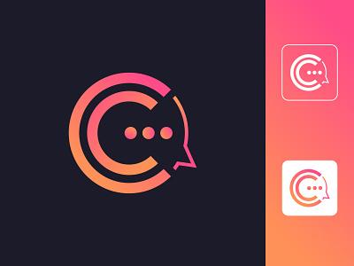 C Letter + Consulting Company Logo app icon branding logo design
