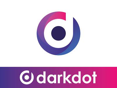 Darkdot;  Modern D Logo abstract logo illustration typography logo icon design branding