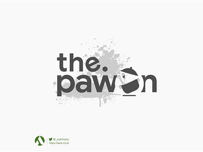 """Logo """"the pawon"""" sensai metal logo design logobrand greenboxindonesia pawonlogo logotype logodesign logogram logos designs logo"""