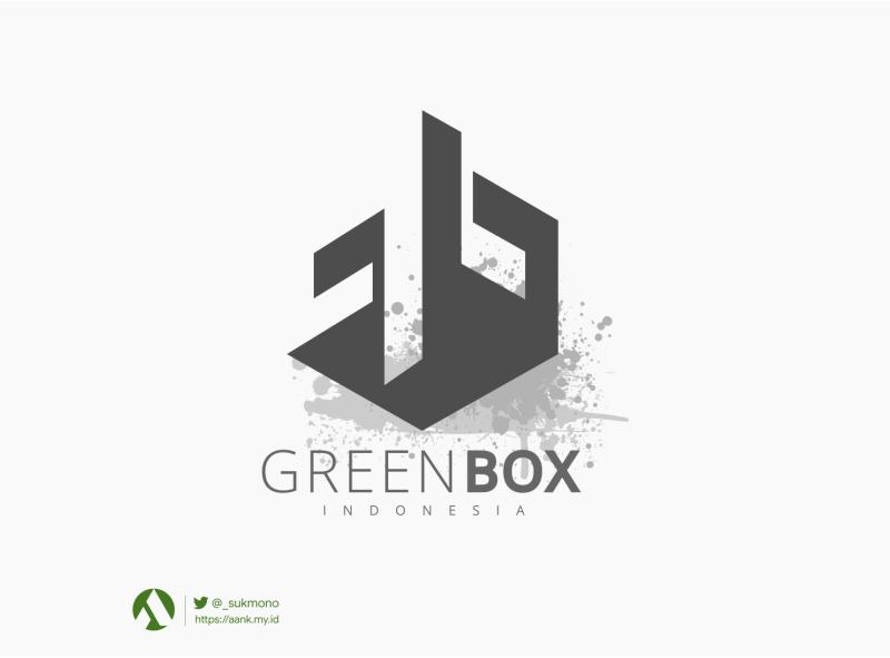 """Logo """"Greenboxindonesia"""" sensai metal branding logobrand logo design logos designs greenboxindonesia logogram logodesign logotype logo"""