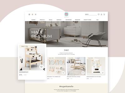 Petit Amelie shop service illustration ui interface design system design