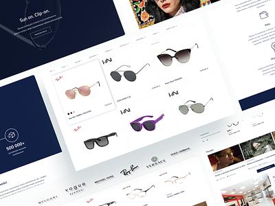 Okularium.pl website design system service shop design