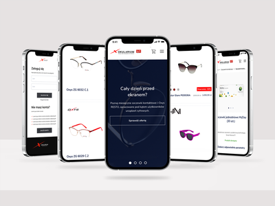 Okularium - mobile shot ui service interface design system design