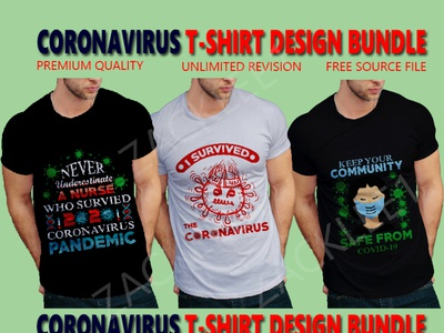 corona virus T-Shirts Design.