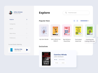Book Store ux book cover shop web book bookstore ui design