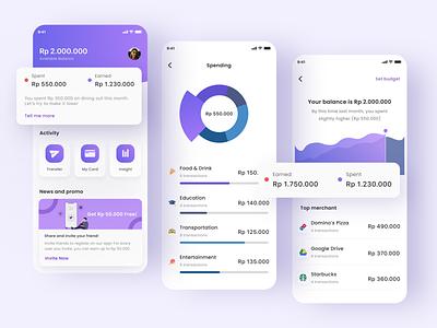 Finance App credit card atm card money uxdesign uidesign finance app finance illustration design ux ui