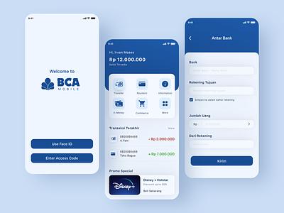 Mobile Banking App - BCA Mobile (Redesign) uiux ui design mobile banking bank app bank banking app finance ux ui design