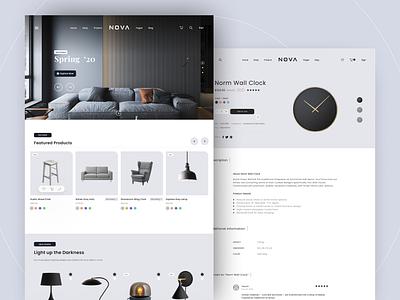E-Commerce Furniture - Web Design web website web design e-commerce shop e-commerce design e-commerce interface ui ux ux design ui design ux ui design furniture e-shop shop online shop online store
