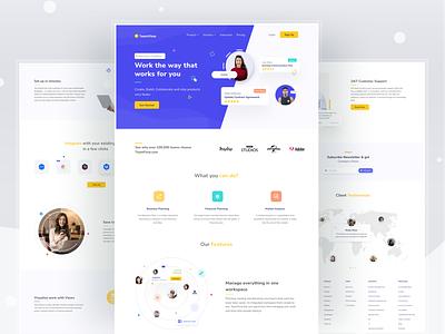 TeamFlow - Collaboration Website collaboration teams team teamwork web uxdesign uiux ui design ux ui design