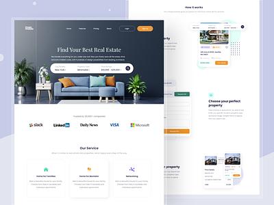 Real Estate Landing Page home real estate apartment property landingpage realestate uxdesign uiux web ui design ux ui design