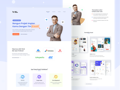 Design Agency business creative company startup corporate portfolio marketing agency landing page uiux web ui design ux ui design