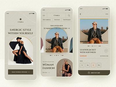 Fashion App online store online shop fashion app ecommerce clothing clean ios mobile app ui design ui design luxury elegant minimalist fashion