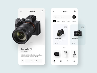 Digital Cameras Store app photography minimalist simple clean interface camera app cameras store app store mobile app design mobile app mobile design ui mobile uidesign ui design ui