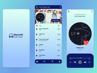 Music Player UI Design design vector uiux figma logo ui