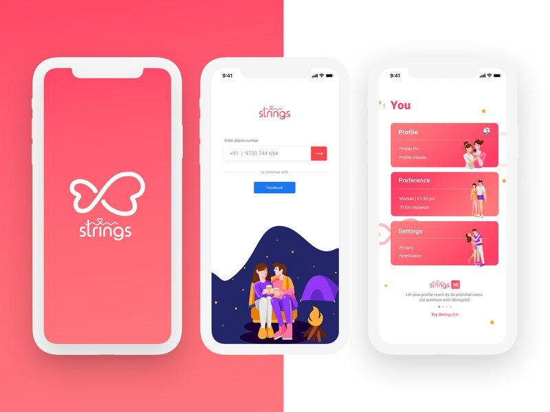 UI Design For Dating App