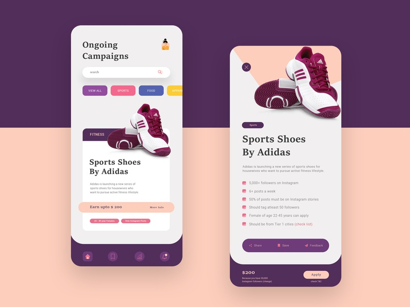 UI Design For Influencer Marketing Campaign Management