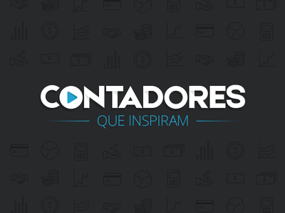 Contadores que Inspiram pixel perfect logo play pattern brand branding