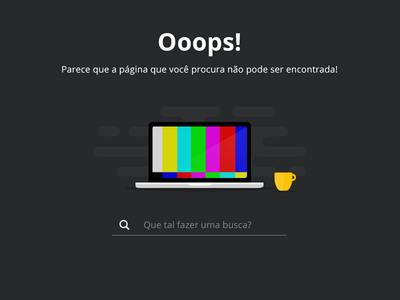 404 Error ui design 404 error 404 page video ui 404