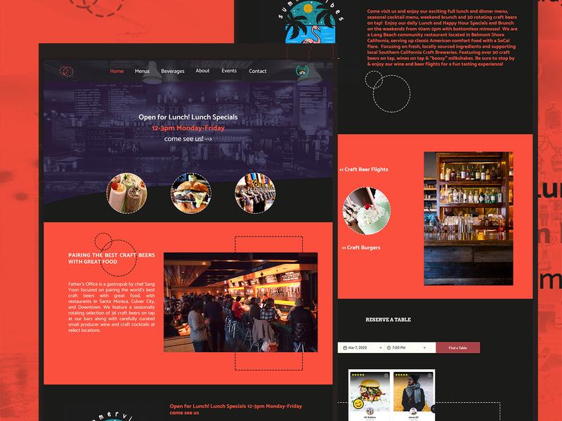 Webdesign Craft Beer Bar web design webdevelopment adobexd photoshop pub ui design webdesign uidesign