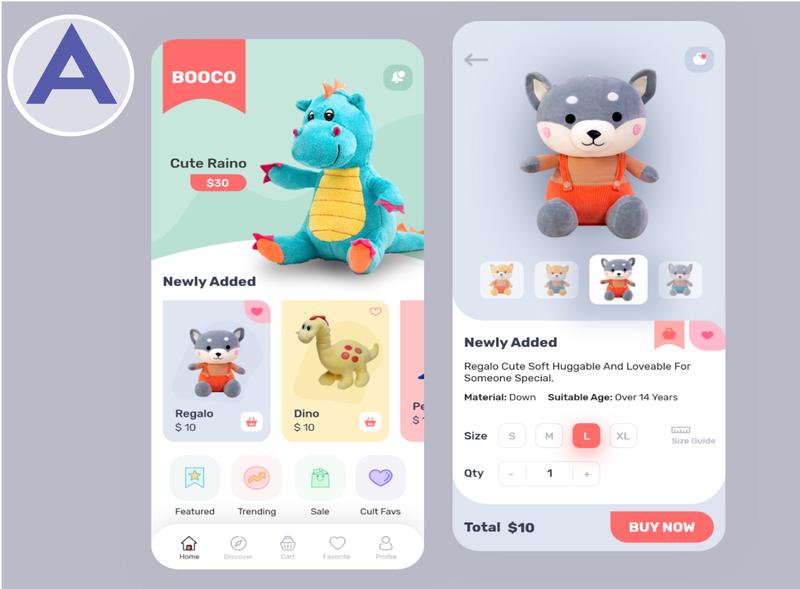 UI/UX Design For BOOCO A Toy App