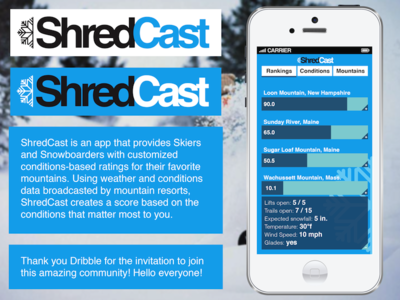 Shredcast App Concept Design