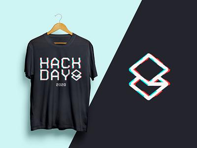 Superhuman — Hackday 2020 typography glitch logo tshirt superhuman hackathon