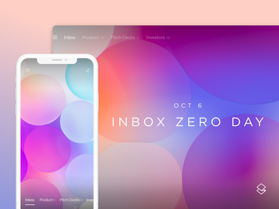 Superhuman — Inbox Zero Day holiday inbox zero photography abstract ads twitter superhuman design